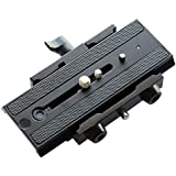 """Flycam Cnc Aluminium Made Robust Quick Release Camera Base Plate With 1/4"""" And 3/8"""" Screws (Flcm-Qr)"""