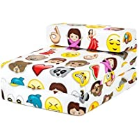 Shopisfy Children's Single Fold Out Foam Z Bed Guest Mattress Chair Bed - Emoji Emoticons