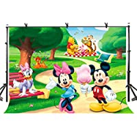LYLYCTY 7x5ft Mickey Mouse Backdrop Cute Children's Animation Photographic Background and Studio Photography Backdrop Props LYHUI149