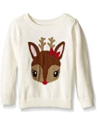 The Children's Place Baby-Girls E Reindeer Sweater