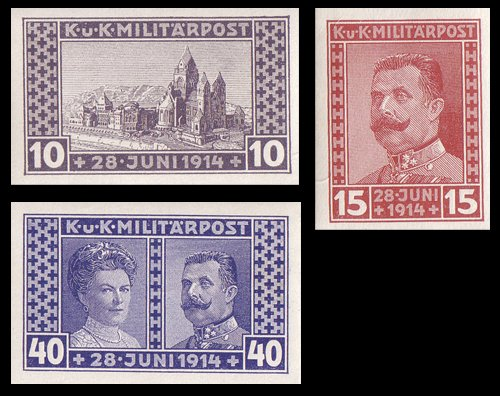 Goldhahn Österreich Bosnien/Herzegowina Nr. 121-123U postfrisch ** Briefmarken für Sammler