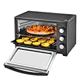 30L Black Mini Oven & Grill 1600W with Baking Tray & Wire Rack,Max