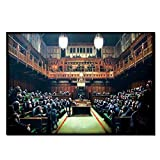 Box Prints Banksy Affe Parlament Leinwand Wand Kunstdruck Bild Klein groß