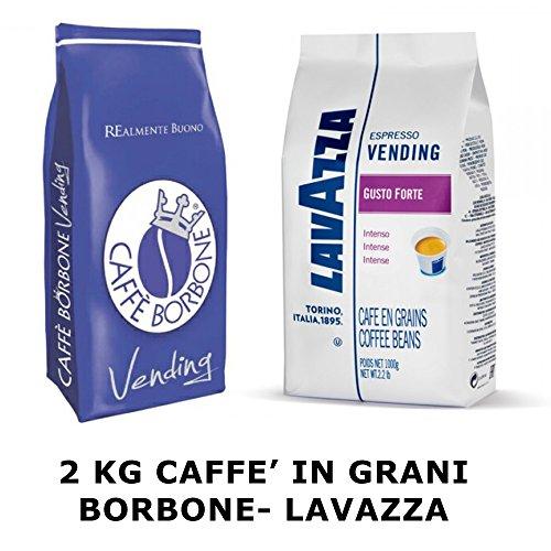 Caffe' in grani 2 kg borbone lavazza linea vending blu e forte intenso