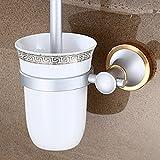 R&Y furniture supplies R&Y Toilet brush bathroom space aluminum toilet brush set bathroom hardware accessories bathroom ceramic toilet brush