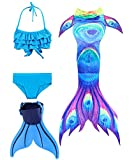ShePretty Meerjungfrauenschwanz zum Schwimmen für Kinder,DH03,150