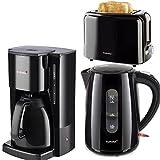 Kor.2 Frühstücksserie im Trendigen schwarz mit Kaffeeautomat Thermo !! 3 Geräte 1Preis