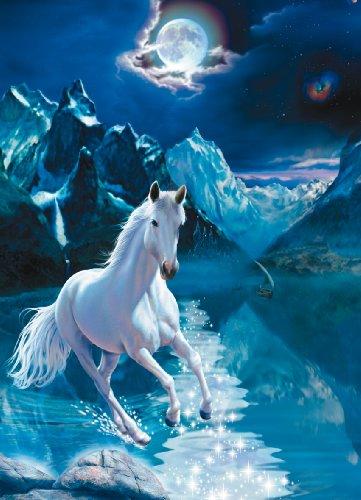 Clementoni Puzzle 30886 - The white stallion - 1000 pezzi Fluorescenti
