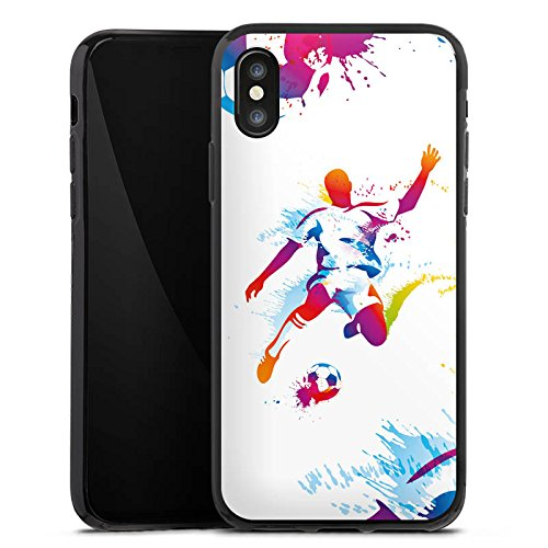 Apple iPhone 6s Plus Silikon Hülle Case Schutzhülle Fußball Sport Stürmer Silikon Case schwarz