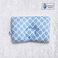 Kradyl Kroft Baby Head Sleeping Pillow (0-3 Months Plus, Happy Blue)