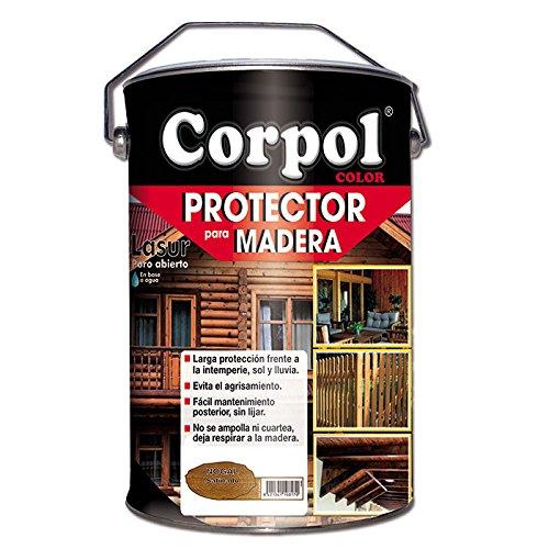 Barniz Corpol exterior agua protector madera color