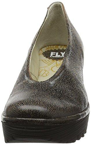 FLY London Damen Yaz Wedge Schuhe Grau (slate 206)