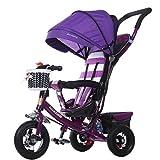 BBZZZ- Kinder Trike Geeignet für 1-5 Jahre Alt Baby, Baby Bike Tricycle Trolley Kleinkind Fahrrad, Multifunktions