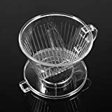 KITCHY Transparent Reusable Coffee Filter Cone-Shaped Portable Dripper Pure Flavor Coffee Drippers Maker Tool