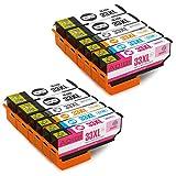 Aoioi Kompatibel Tintenpatronen Ersatz für Epson 33XL 33 Multipack Druckerpatronen Kompatibel mit Epson XP-635 XP-530 XP-640 XP-630 XP-830 XP-645 XP-540 XP-900 Patronen(4 Schwarz, 2 Foto Schwarz, 2 Blau, 2 Rot und 2 Gelb)