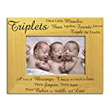 Triplets Photo Frame, Stunning Solid Wood, Triplets Frame, Newborn Triplets Frame, New Baby Triplets, Triplets Gift, Triplets Present,