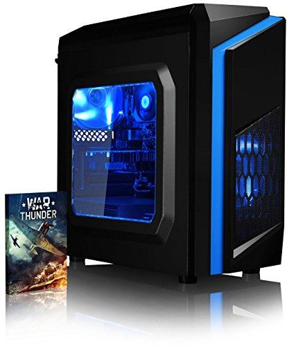 VIBOX Killstreak GS550T-5 Gamer PC - 3,5GHz Intel i5 Quad Core CPU, GTX 1050 Ti GPU, Avanzato, Dekstop Gaming PC con buono Gioco, Illuminazione al Azul interna, Garanzia a vita* (3,0GHz (3,5GHz Turbo) Super Veloce Intel i5 7400 Quad 4-Core Kabylake Processore CPU, Nvidia Geforce GTX 1050 Ti 4GB Scheda Grafica GPU, 8GB DDR4 2133MHz RAM, 120GB Unità a stato solido SSD, 1TB Hard-Disk, PSU 85+, F3 Caso Blu, Scheda scheda madre H110 , Senza Sistema Operativo)