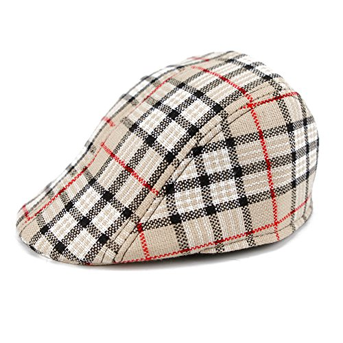 8f7c60dc88cb CHIC-CHIC Casquette Souple Hat Bébé Enfant Fille Garçon Chapeau Bob Béret  Carreaux Outdoor Solaire