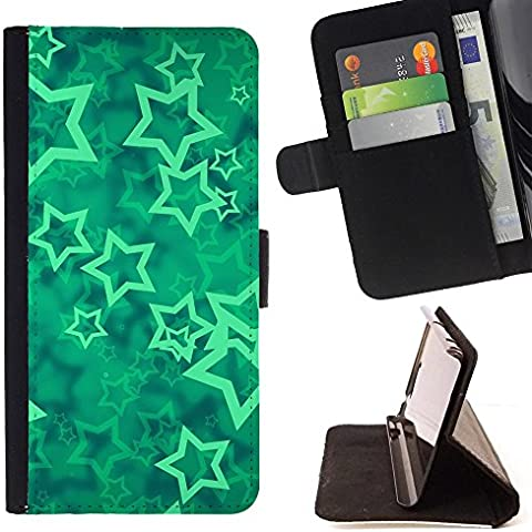 All Phone Most Case / Cellulare Smartphone cassa del cuoio della calotta di protezione di caso Custodia protettiva per SAMSUNG GALAXY J3 PRO // stars vortex mint mystical abstract