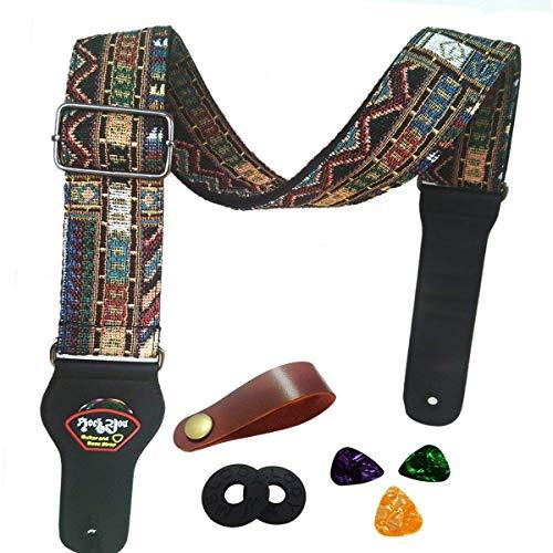 Correa guitarra Vintage estilo tejida ajustable