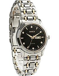 Amica para hombre acero Fashion Full carcasa de cristal de zafiro reloj de pulsera 100m a prueba de agua banda de acero de tungsteno acero regalo de primera calidad de lujo RGB