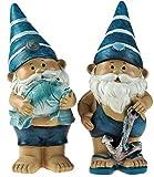 Set von 2blau 21cm Neuheit Garden Gnome Ornaments Figuren-Fisch/Anker