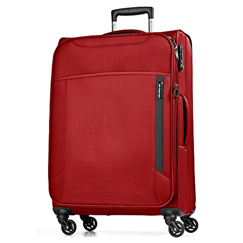 March 15 Cloud Valise 4 roulettes Taille M 67 cm extensible, Red