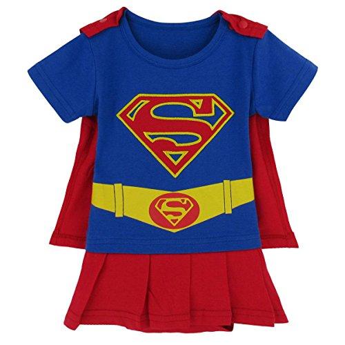 Blau Supergirl 12-18 Monate Baby Kleinkind Mädchen Spielanzug Party Spiel Kleid Outfit … (Superman Kleinkind Mädchen Kostüm)