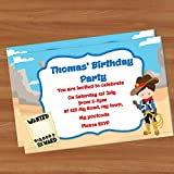 10personalisierte Party Geburtstag Einladungen A6glänzend PI09Cowboy Western