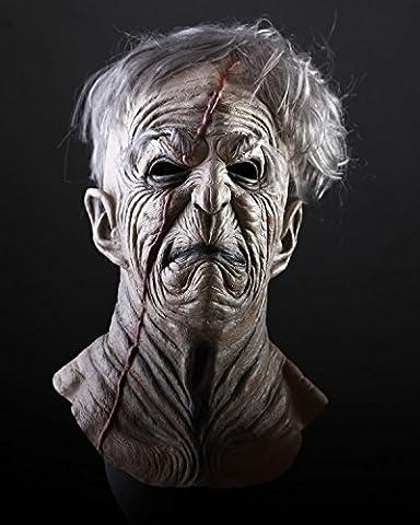 Halloween Maske Sinister. Die Horror-Maske aus Latex. Zombie zum Gruseln. Für Männer und Frauen. (Purge-kostüme Für Halloween)