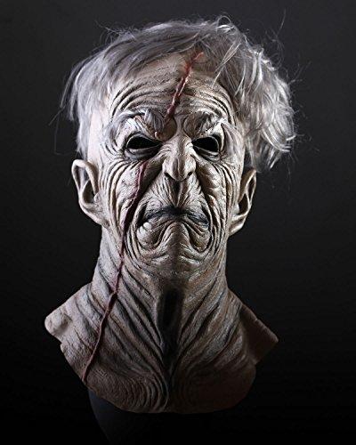 Halloween Maske Sinister. Die Horror-Maske aus Latex. Zombie zum Gruseln. Für Männer und Frauen.