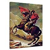 Wandbild Napoleon Bonaparte - 60x80cm hochkant - Leinwandbild Kunstdruck Bild auf Leinwand Gemälde - Berühmtheiten & Zeitgeschichte