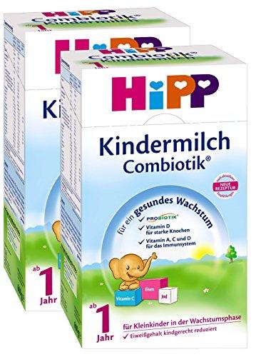 Hipp Kindermilch Bio Combiotik - ab dem 1. Jahr, 2er Pack (2 x 600g)