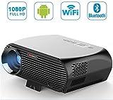 Android 6.0 WiFi Bluetooth LED Beamer Portable Multimedia 3500 Lumen Heimkino Kino PS Xbox Spiele Mini Projektor Full HD 1080p Video mit USB HDMI AV SD VGA TV