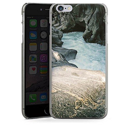 Apple iPhone X Silikon Hülle Case Schutzhülle Fluss Felsen Natur Hard Case anthrazit-klar