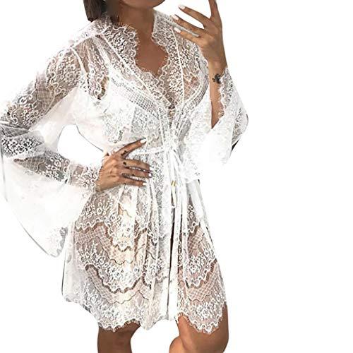 Valentinstag Geschenk !!! Pondkoo Sexy Transluzent Lace Appeal Unterwäsche Tanga Set Nachthemd Kleid