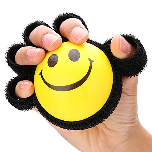 TMISHION Finger Trainingsgerät, Griffstärke Ball, Finger Fitness Training Ball,Grip-Ringe Für Muskelaufbau, Physiotherapie, Büro Stress Relief Unisex