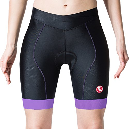 SOLKE Women Outdoor Sport Cycling Shorts 4D Padded Bicycle Shorts (Shorts Edge Womens)