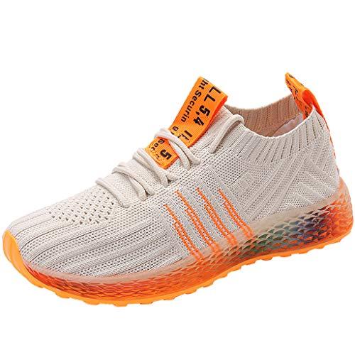 Sneaker Damen Sportschuhe Socken Schuhe Outdoor Schuhe Freizeit Slip On Bequeme Freizeitschuhe Atmungsaktiv Mesh Turnschuhe Laufschuhe Schnürschuhe (EU:39, Beige) -