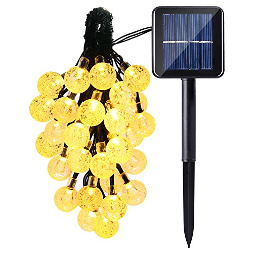 ADOGO-20Foot-30-LED-Crystal-Ball-Bulb-Solar-Powered-String-Lights-for-House-Outdoors-Garden-Yard-Pathway-Decoration