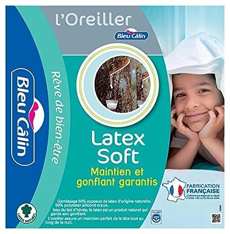 Bleu Câlin Lot de 2 Oreillers Latex Soft Blancs 60x60