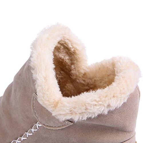 JOYORUN Boots Schneestiefel Damen Outdoor Winterschuhe Warm Gefütterte Beige