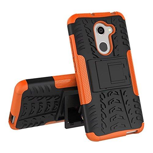 YHUISEN Alcatel A3 Case, Hyun Pattern Dual Layer Hybrid Armor Kickstand 2 in 1 Shockproof Case Cover für Alcatel A3 5.0 Zoll ( Color : White ) Orange