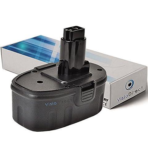 Batterie pour DEWALT DC927 perceuse à percussion 3000mAh 18V - Visiodirect -