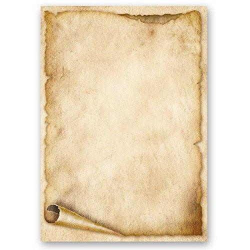 Papier à motif à lettres VIEUX ROULEAU DE PAPIER 50 feuille de papier DIN A4