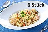 Pastateller PAG Gourmet, Ø 30,5cm, Porzellan, weiß, für Pasta, Salat, Dessert, Suppen (6 Stück)