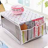 Zollyss 1Pc Pastoral Style Cover Microwave Cover With 2 Pouch - Multi