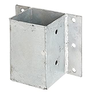 GAH-Alberts 208738 Pfostenträger für L- und U-Steine o. Mauern, zum Anschrauben - feuerverzinkt, 91 x 91 mm
