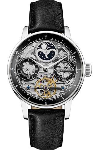 Ingersoll The Jazz Reloj para Hombre Analógico de Automático con Brazalete de Piel de Vaca I07701