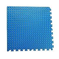 RBWTOYS Interlock EVA Foam Floor Mat 100cmx100cmx3cm Blue Color Plain Exercise Puzzle Mat for kids Activity. rbwtoy18807. (BLUE)